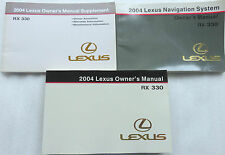 2004 Lexus RX330 Owner's Manual W/ Supplement Factory Book Warranty Navigation