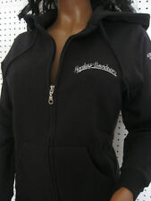 nwt  HARLEY DAVIDSON Black Full Zip Embroidered  Hoodie/Hooded Sweat Shirt
