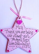 PERSONALISED HANDMADE STAR THANK YOU GIFT BRIDESMAID FLOWER GIRL MAID OF HONOUR