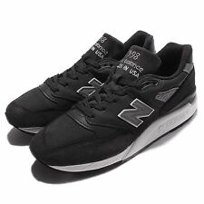 New Balance M998DPHO D Black Grey Men Made In USA Running Shoes M998DPHOD
