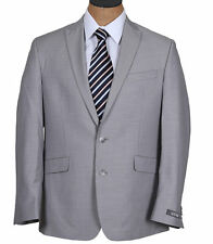 NEW Mens Kenneth Cole Light Taupe Pinstripe Slim Fit Suit