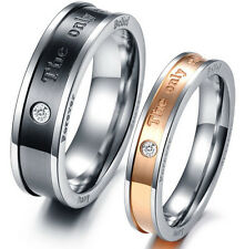 2 Partnership Rings Friendship Wedding Engagement Stainless Steel new