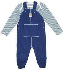 Baby Boys Teddy Bear Dungarees & Bodysuit Top Set Newborn to 12 Months