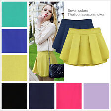 Free NEW Women's Slim Chiffon Pleated Culottes Mini Shorts Skirt Short Pants OL