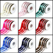 23 Metres DOUBLE SIDED SATIN RIBBON Rolls 10mm 20mm 25mm 38mm Various Colour