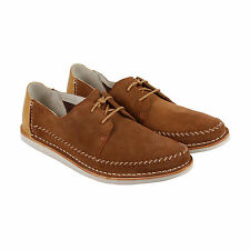 Clarks Brinton Craft Mens Brown Suede Casual Dress Lace Up Oxfords Shoes