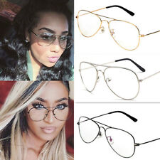 New Retro Big Round Metal Frame Clear Lens Glasses Nerd Spectacles Eyeglasses