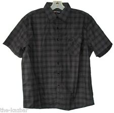 SMALL Black collared shirt short sleeve casual check Ed Harry Easy Street NEW