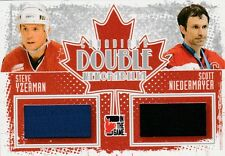 11-12 Yzerman/Niedermayer ITG #DM-06 Canadiana Double Memorabilia Insert
