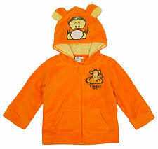 Boys Disney Winnie The Pooh Tigger Hoody Fleece Jacket with Ears 6 to 23 Months