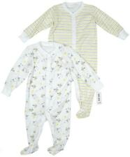 Boy's 2 Pack Sheep & Rabbit Cotton Romper Sleepsuits Tiny Baby - 9 Months NEW