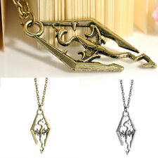 Charm Cool The Elder Scrolls Logo Skyrim Dragon Pendant Necklace Chain CHI