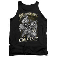 Popeye Only The Strong Mens Tank Top Shirt BLACK