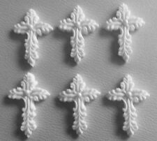 Edible Sugar Icing Christening Holy Communion Baptism Crosses Cup Cake Toppers