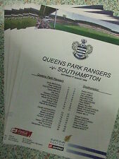 QPR 2009-2010 PRESS/TEAMSHEETS: CHAMPIONSHIP: CHOOSE FROM THE DROP DOWN LIST !!!