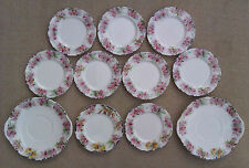 ROYAL DOULTON ORCHIDS - RARE VARIANT - H3906 - SELECTION OF PLATES