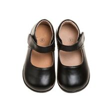 Girl's Toddler Leather Solid Mary Jane Non-Squeaky Shoes (Black Bottom)