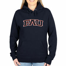 FAU Owls Women's Arch Name Pullover Hoodie - Navy Blue