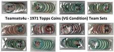 1971 Topps Coins (VG Condition) Baseball Team Sets ** Pick Your Team Set **