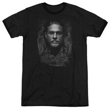 Sons Of Anarchy Jax Mens Adult Heather Ringer Shirt Black