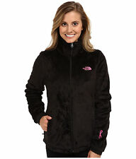 New Women's The North Face Ladies Osito Pink Ribbon Black Jacket S Small