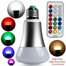 E27 10W RGB Colorful Changing LED Bulb Light Lamp + 21Key Remote Control