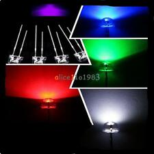 5MM Straw Hat Yellow/Purple/Blue/Green/Red/White Color LED Wide Angle Light Lamp