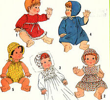 "8817 Baby Doll Clothes PATTERN 13 - 14""  15 - 16""  UNCUT 1978 SEWING SIMPLICITY"