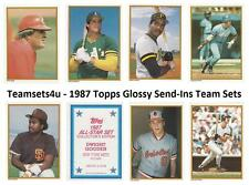 1987 Topps Glossy Send Ins Baseball Set  ** Pick Your Team **