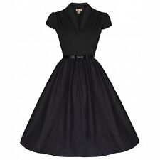 NEW 50'S VINTAGE STYLE BLACK SWEETHEART ROCKABILLY SWING JIVE PARTY DRESS
