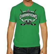 North Dakota Fighting Hawks 2016 Frozen Four Hockey Champions Green T-Shirt