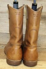 Mens Leather Red Wing Cork Sole Work Cowboy Boots Sz 11.5A