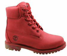 Timberland AF Premium Nubuck 6 Inch Womens Boots Camo Sole Red A148Z T6