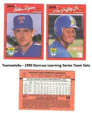 1990 Donruss Learning Series Baseball Set ** Pick Your Team **