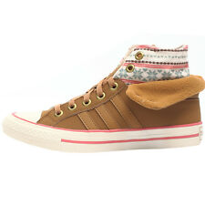 adidas Women's Sneakers Bbneo 3 Stripes Shoes High Trainers High Brown TOP NEW