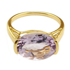 Pink Amethyst 5.62 Carat Genuine Gemstone Ring In 10 Kt Solid Yellow Gold