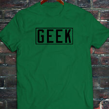 GEEK VIDEO GAMER NERD SMART DORK HUMOR FUNNY Mens Green T-Shirt