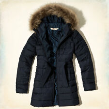 NWT Hollister by Abercrombie Scripps Pier Parka Puffer Jacket Coat Navy XS/S/M/L