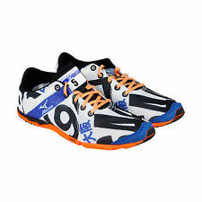 Mizuno Wave Universe 5 Womens White Black Textile Athletic Lace Up Running Shoes