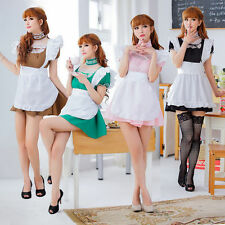 Sexy Women Japan Lolita Costume Cosplay French Maid Princess Outfit Fancy Dress