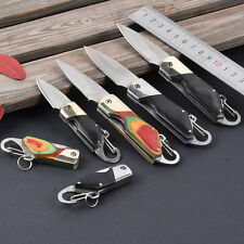 Survival Outdoor Fishing Camping Folding Blade Pocket Rescue Key Ring Knife