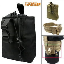 Tactical Military Molle Folding Dump Drop Pouch Utility Bag Coyote Brown/ Black