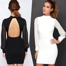 Sexy Women Bodycon Backless Lace Bandage Mini-Dress Cocktail Clubwear Party