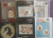 CHOOSE ONE: GOLDEN BEE STITCHERY STAMPED / COUNTED CROSS STITCH KITS with Frames