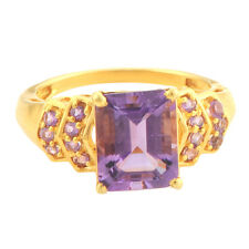 Amethyst 3.20 Carat Genuine Gemstone Ring In 10 Kt Yellow Gold Jewelry