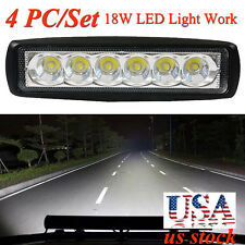 4PC 18W Spotlight LED Light Work Bar Lamp Driving Fog Offroad 4WD Car Boat Truck