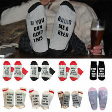 Funny Wine socks If You can read this Bring Me a Glass of Wine , Beer Gifts