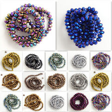 Hot new!Rondelle Faceted Crystal Glass Loose Spacer Beads DIY 3mm/4mm/6mm/8mm