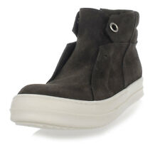 RICK OWENS New Woman Grey Leather DARK DUST ISLAND DUNK Boots Shoes Made Italy