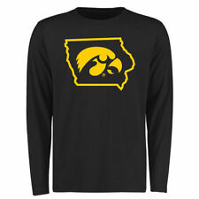 Iowa Hawkeyes Black Tradition State Long Sleeve Crew Neck T-Shirt - College